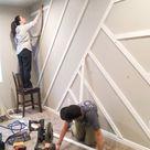 Modern Board & Batten Wall for the Home Gym - CityGirl Meets FarmBoy