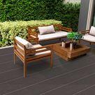Belladoor Terrassendiele WPC Grau - Stärke/Breite 20x140 mm, Länge 3 m, fein geriffelt, Massivprofil