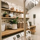 Farmhouse Spring Laundry Room