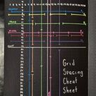 My grid spacing cheat sheet looks a lot cooler on black paper
