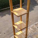 rak sudut minimalis kayu pinus, kesan elegan & mewah