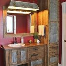 Rustic Tall Storage- Reclaimed Barn Wood Cabinet w/Tin Doors (Unfinished)  #3899