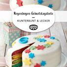 Regenbogen-Geburtstagstorte