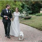 Jennifer and Chris' Charming Winter Wedding at the Slover Library   Norfolk Virginia   Virginia Beach Wedding Photographer Maggie bride wore wedding dress McKenzie by Maggie Sottero  A sleeved lace bridal gown with classic bateau neckline, and V back for