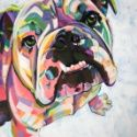 English Bulldog Print Art Print by adriennelewispaintings