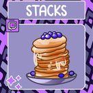 Stacks Pancake Emote  Twitch Emote  Youtube Emote  Discord | Etsy