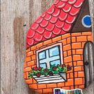 Creative Painted Rocks Like Houses