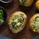 Baked Jacket Potatoes- Easy Wholesome Recipe with healthy veggies
