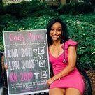God's Plan Checklist BSN, LVN, LPN, RN, MSN Nursing Graduation Chalkboard Sign Photo Prop - Any Nursing Degree DIGITAL FILE  (Chalk-nursecheck)