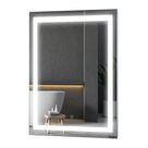 Homcom Light Up Vanity Bathroom Mirror Led Wall Mount Bathroom Vanity Make Up Mirror Led Wall Mirror With Defogger 32