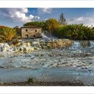 10 inch Photo. Cascate del Mulino, natural pools of thermal water. Saturnia, Grosseto, Tuscany, Italy