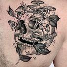 Black Friday 50 geniale Blackwork Tattoos
