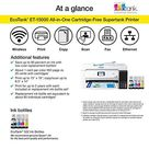 Epson EcoTank ET-15000 Wireless Color All-in-One Supertank Printer with Scanner, Copier, Fax, Ethernet and Printing up to 13 x 19 Inches, Works with Alexa