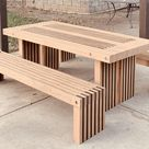 Simple Picnic Table Plans 2x4 Outdoor Furniture (DIY, easy to build)