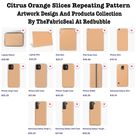 Citrus Orange Slices Repeating Pattern by TheFabricSeal   Redbubble