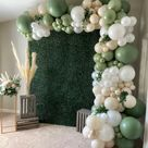 Eucalyptus, Cream, and White Balloon Backdrop