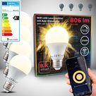 WiFi LED Leuchtmittel E27 9W   4er Set