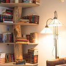 Wall bookshelf decoration ideas
