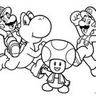 Free Printable Mario Brothers Coloring Pages For Kids