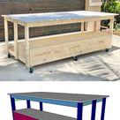 DIY Workbench with Storage Drawers  