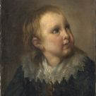 Anonymous, 1820 - Portrait of child. - fine art print - Acrylic glass print (with real glass coating) / 90x120cm - 35x47