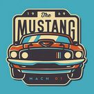 Ford Mustang Minimal - IPhone Wallpapers