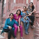 Indian college girls in Salwar kameez