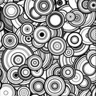 Instant Download Adult Coloring Page: Generative Circles. Math, Science, Chemistry art book color therapy geeky gift colouring pages