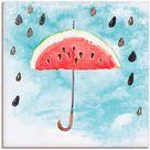 Wandbild »Sommer Melonen Regen«, Artland, Motiv