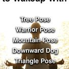 5 Yoga Poses                            to Wakeup With
