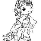 Coloriage Jolie princesse poney - Mon Petit Poney