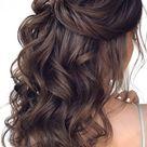 Hairstyle half up half down wedding   Etsy