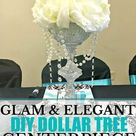 Glam Elegant Dollar Tree Centerpiece Weddings anniversary bridal shower