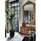 Rocaille Kuifspiegel Goud   Klassieke Spiegels   Usi Maison