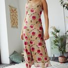 Urban Outfitters - UO Floral Bloom Mesh Maxi Dress