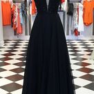 Black Prom Dress with Beading Long Prom Dresses 8th Graduation Dress Formal Dress PDP0593 - US10 / Red