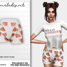 mermaladesimtr's Pyjamas Set-Watermelon Short MC215