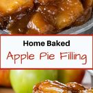 Fresh Apple Pie Filling