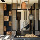 Regal Brennholz Wohnzimmer