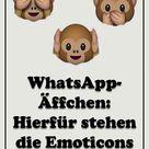 WhatsApp-Äffchen: Hierfür stehen die Emoticons wirklich