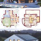 Modernes Satteldach Haus EVOLUTION 163 V3 - | HausbauDirekt.de