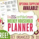 Your 2015 Confident Mom Weekly Household Planner - The Confident Mom
