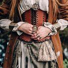 """Leather corset belt """"Forest witch""""; shieldmaiden medieval corset; renaissance women corset; viking c"""