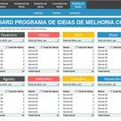 Planilha de Programa de Ideias de Melhoria em Excel