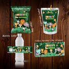 Animal birthday favor set bundle bottle wrapper Caprisun label candy bar wrapper animal safari party favors decoration animal chip bag