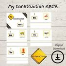 My Construction ABC's  Toddler/Preschool Busy Book  | Etsy