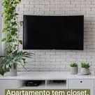 Apartamento tem closet, home office e espaço para os pets em 52 m²