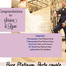 Pure Platinum Party couple gets published in Top Bridal magazine!