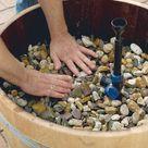 Gestalten Sie einen Mini Teich mit Wasserspiel