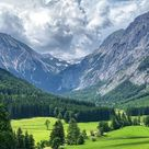 The latest iPhone11, iPhone11 Pro, iPhone 11 Pro Max mobile phone HD wallpapers free download, mountains, valley, trees, grass, landscape, green - Free Wallpaper   Download Free Wallpapers